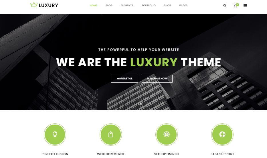 Luxury - mẫu website bán hàng chuyên nghiệp