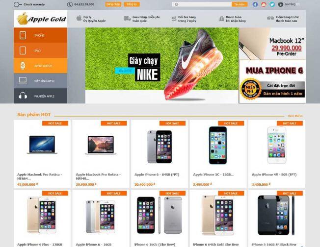 Nobi Rossy Store - mẫu web TMĐT