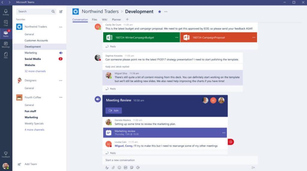phần mềm học tiếng anh thực tuyến Microsoft Teams